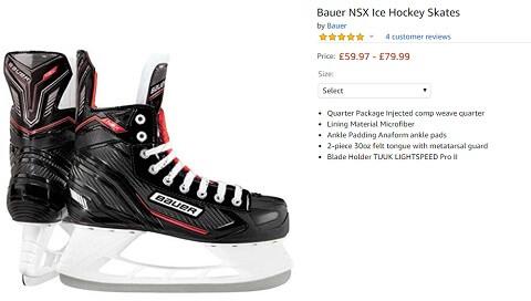 bauer nsx ice hockey skates