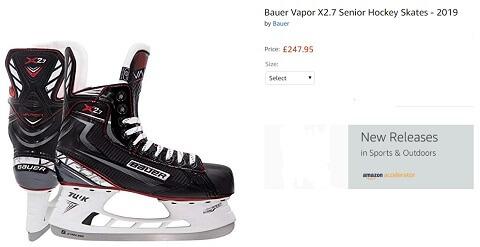 bauer vapor x2.7 senior ice hockey skates