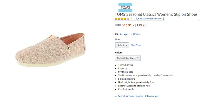 toms classics womens slip-on shoes