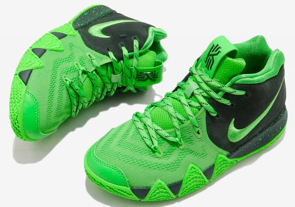 "Nike Kyrie 4 ""Spinach Green"" Releases Exclusively For Kids"