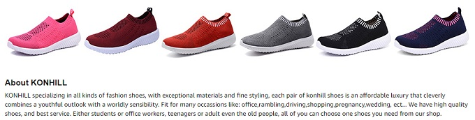 konhill walking shoes for women