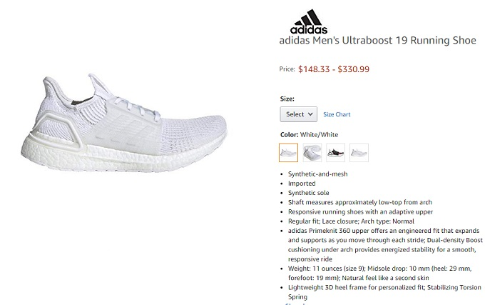 adidas ultraboost 19 running shoe for men
