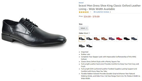 bravo king classic oxford leather lining
