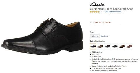 clarks men's tilden cap dress shoes