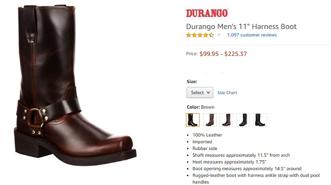 durango darness boot for men