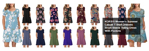 korsis short sleeve womens summer casual tshirt dresses