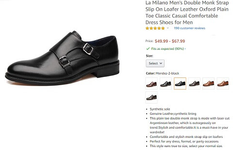 la milano double monk strap most comfortable mens dress shoe