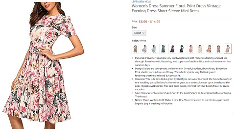 lbpsuuew yevs summer floral print dress