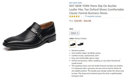 nxt new york moc toe business shoes