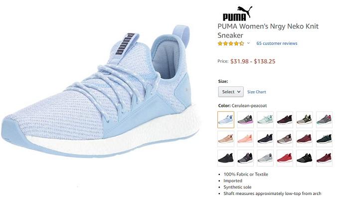 puma nrgy neko knit summer shoes for women's