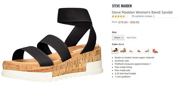 steve madden bandi sandal for women
