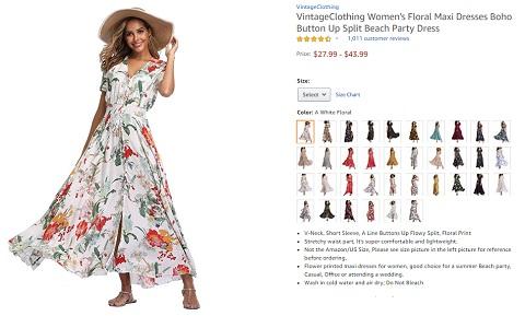 vintageclothing womens boho floral maxi dresses