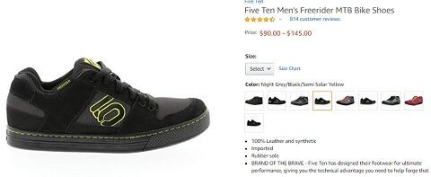 five ten mens freerider mtb bike shoes