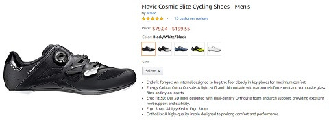 mavic cosmic elite mens cycling shoes