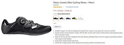 mavic cosmic elite mens cycling shoes
