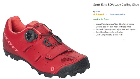 scott elite boa women cycling shoe