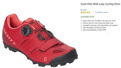 scott elite boa women cycling shoe