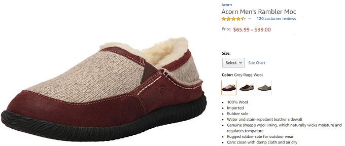 acorn mens rambler moc slipper