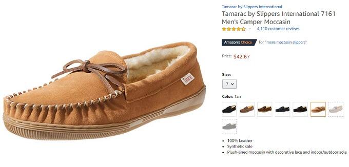 tamarac by slippers international men's camper moccasin